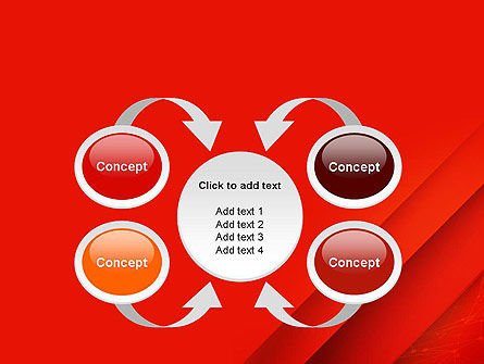 Abstract Red Layered PowerPoint Template Slide 6