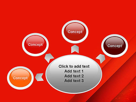 Abstract Red Layered PowerPoint Template Slide 7