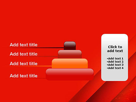 Abstract Red Layered PowerPoint Template Slide 8