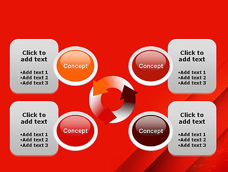 Abstract Red Layered PowerPoint Template Slide 9
