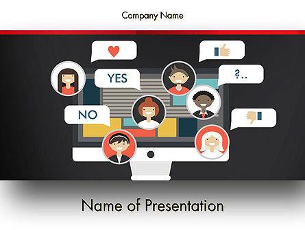 Careers/Industry: Social Marketing PowerPoint Template #13463
