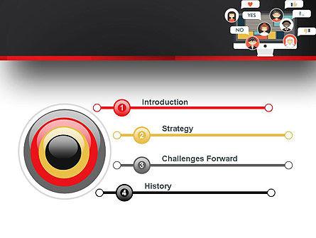 Social Marketing PowerPoint Template, Slide 3, 13463, Careers/Industry — PoweredTemplate.com