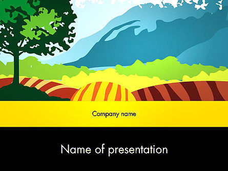 Art & Entertainment: Knipsel Landschap PowerPoint Template #13464