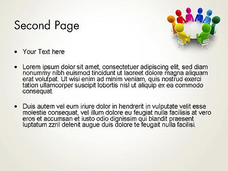 Discussion on a Round Table Meeting PowerPoint Template Slide 2