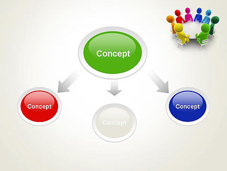 Discussion on a Round Table Meeting PowerPoint Template Slide 4