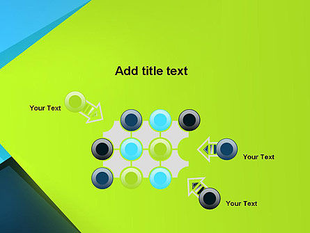 Sheets of Colored Sticker Paper Abstract PowerPoint Template Slide 10
