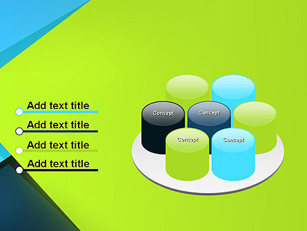 Sheets of Colored Sticker Paper Abstract PowerPoint Template Slide 12