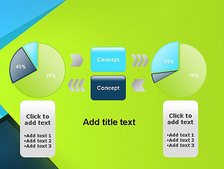 Sheets of Colored Sticker Paper Abstract PowerPoint Template Slide 16