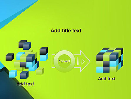 Sheets of Colored Sticker Paper Abstract PowerPoint Template Slide 17