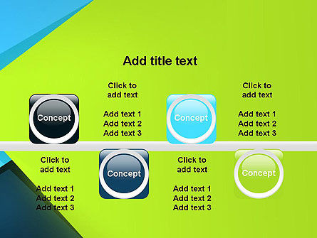 Sheets of Colored Sticker Paper Abstract PowerPoint Template Slide 18