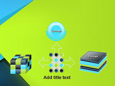 Sheets of Colored Sticker Paper Abstract PowerPoint Template Slide 19