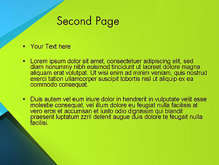 Sheets of Colored Sticker Paper Abstract PowerPoint Template Slide 2
