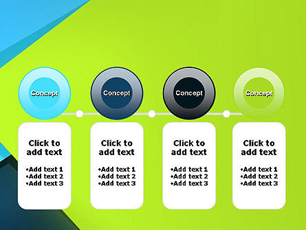 Sheets of Colored Sticker Paper Abstract PowerPoint Template Slide 5