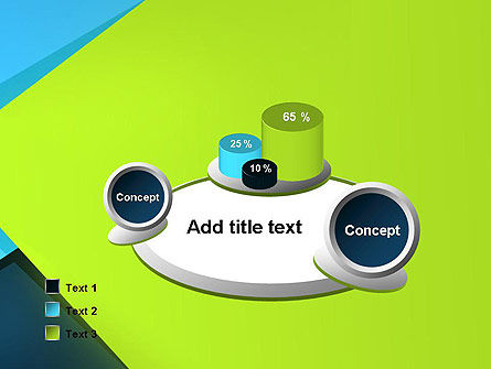 Sheets of Colored Sticker Paper Abstract PowerPoint Template Slide 6