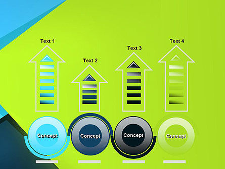 Sheets of Colored Sticker Paper Abstract PowerPoint Template Slide 7