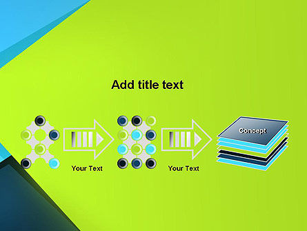 Sheets of Colored Sticker Paper Abstract PowerPoint Template Slide 9