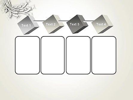 Abstract Swarm of Paper Arrows PowerPoint Template Slide 18