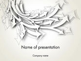 Abstract Swarm of Paper Arrows PowerPoint Template#1