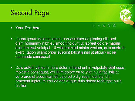 Green Technologies PowerPoint Template, Slide 2, 13469, Nature & Environment — PoweredTemplate.com