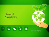 Nature & Environment: Modelo do PowerPoint - tecnologias verdes #13469