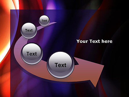 Wavy Smoky Streaks PowerPoint Template Slide 6