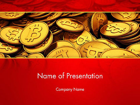 Scattered Bitcoins PowerPoint Template