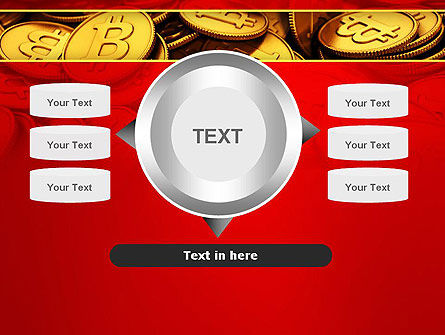 Scattered Bitcoins PowerPoint Template Slide 12