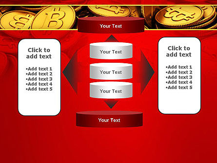 Scattered Bitcoins PowerPoint Template Slide 13