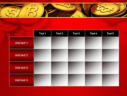 Scattered Bitcoins PowerPoint Template Slide 15