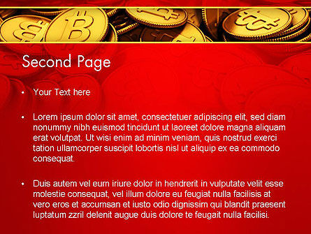 Scattered Bitcoins PowerPoint Template Slide 2