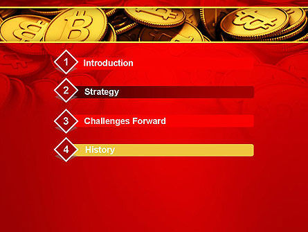Scattered Bitcoins PowerPoint Template Slide 3