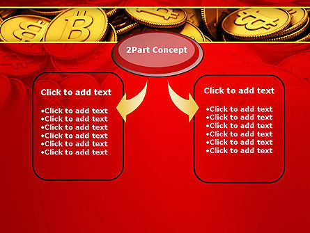 Scattered Bitcoins PowerPoint Template Slide 4