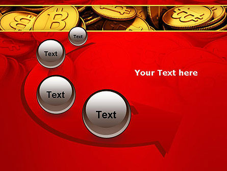 Scattered Bitcoins PowerPoint Template Slide 6