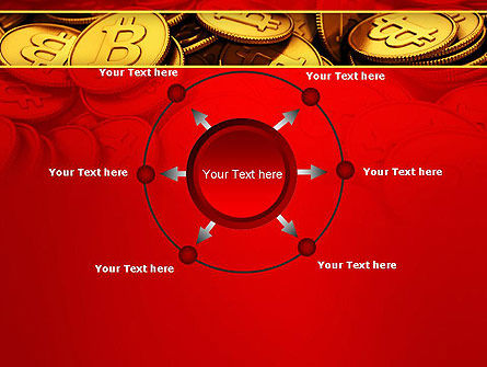Scattered Bitcoins PowerPoint Template Slide 7
