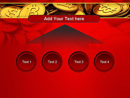Scattered Bitcoins PowerPoint Template Slide 8