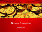 Financial/Accounting: Scattered Bitcoins PowerPoint Template #13471