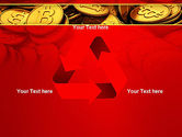 Scattered Bitcoins PowerPoint Template#10