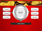 Scattered Bitcoins PowerPoint Template#12