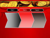 Scattered Bitcoins PowerPoint Template#16