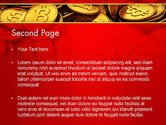 Scattered Bitcoins PowerPoint Template#2