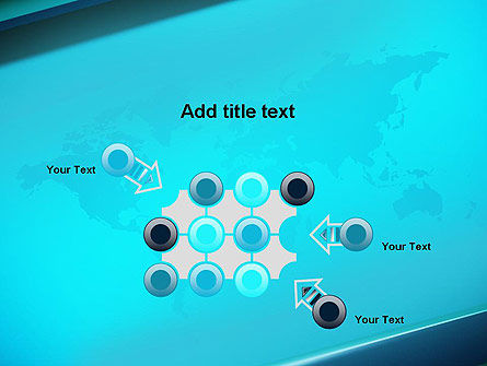 Turquoise World Map PowerPoint Template Slide 10