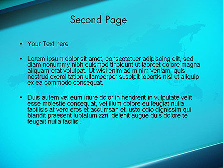 Turquoise World Map PowerPoint Template, Slide 2, 13472, Global — PoweredTemplate.com
