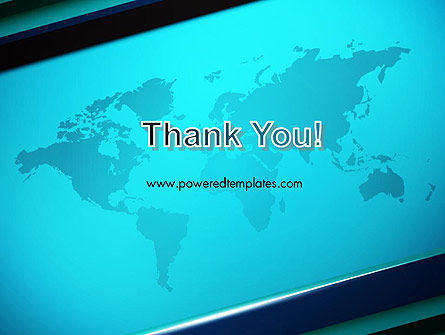 Turquoise World Map PowerPoint Template Slide 20