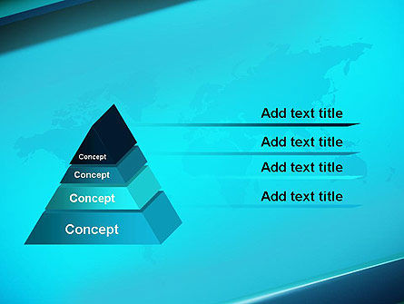 Turquoise World Map PowerPoint Template Slide 4