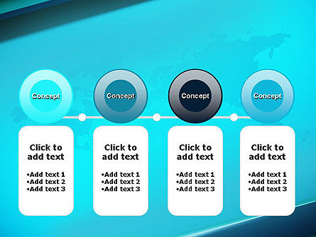 Turquoise World Map PowerPoint Template Slide 5