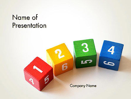 Learning to Count PowerPoint Template, 13473, Education & Training — PoweredTemplate.com