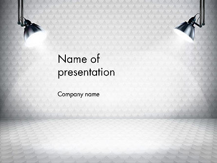 Stage Illuminated by Spotlights PowerPoint Template
