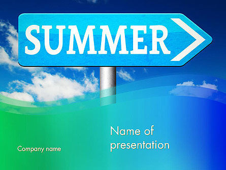 Summer Sign PowerPoint Template, 13480, Holiday/Special Occasion — PoweredTemplate.com