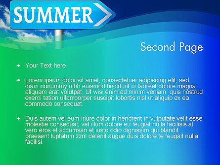 Summer Sign PowerPoint Template, Slide 2, 13480, Holiday/Special Occasion — PoweredTemplate.com