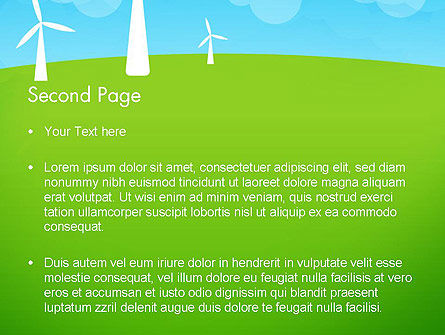 Wind Farm Illustrative PowerPoint Template, Slide 2, 13481, Nature & Environment — PoweredTemplate.com